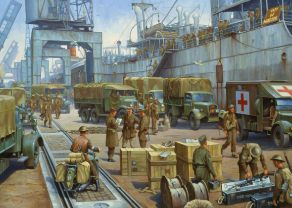52nd Lowland Division at Docks