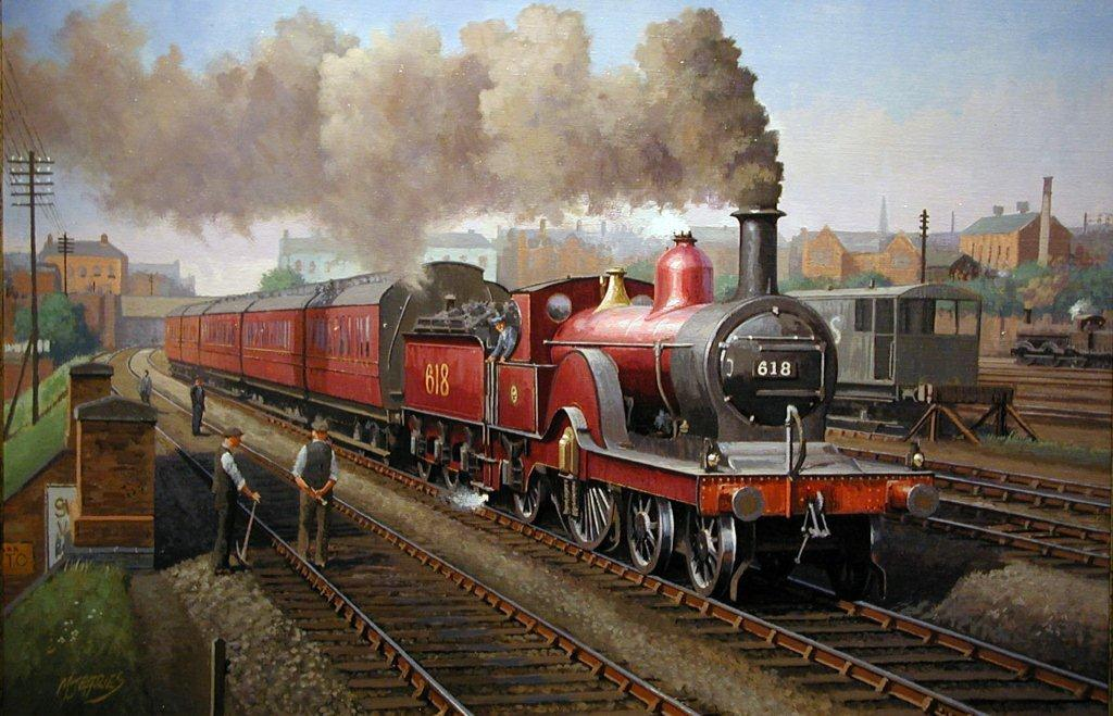 Related Keywords & Suggestions for old steam trains paintings
